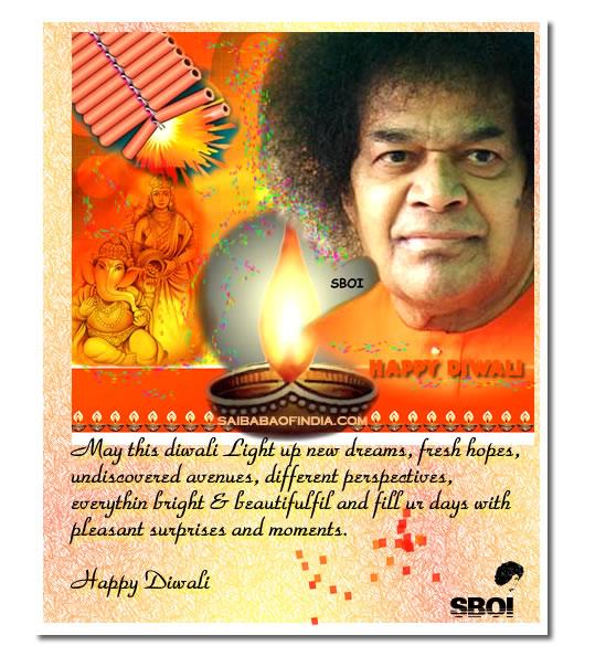 El despertar sai dipavali una exposicion por bhagavan sri sathya sai baba theme diwali greeting cards m4hsunfo