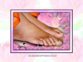 Lotus feet of Sai Baba
