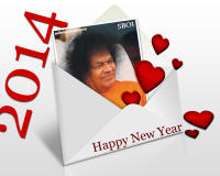 Sri Sathya Sai Baba - New Year Greeting cards & Wallpapers & New Year Updates