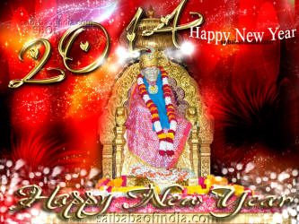 Shirdi sai baba new year wallpapars and greeting cards