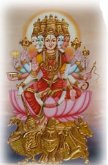 Image result for gayathri veda mata images in tamil