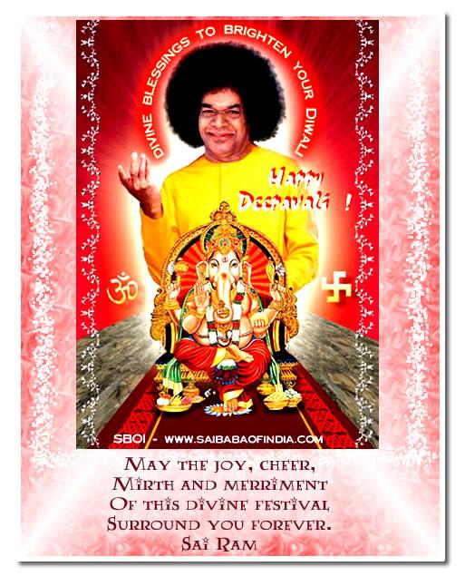 sai baba theme diwali greeting cards