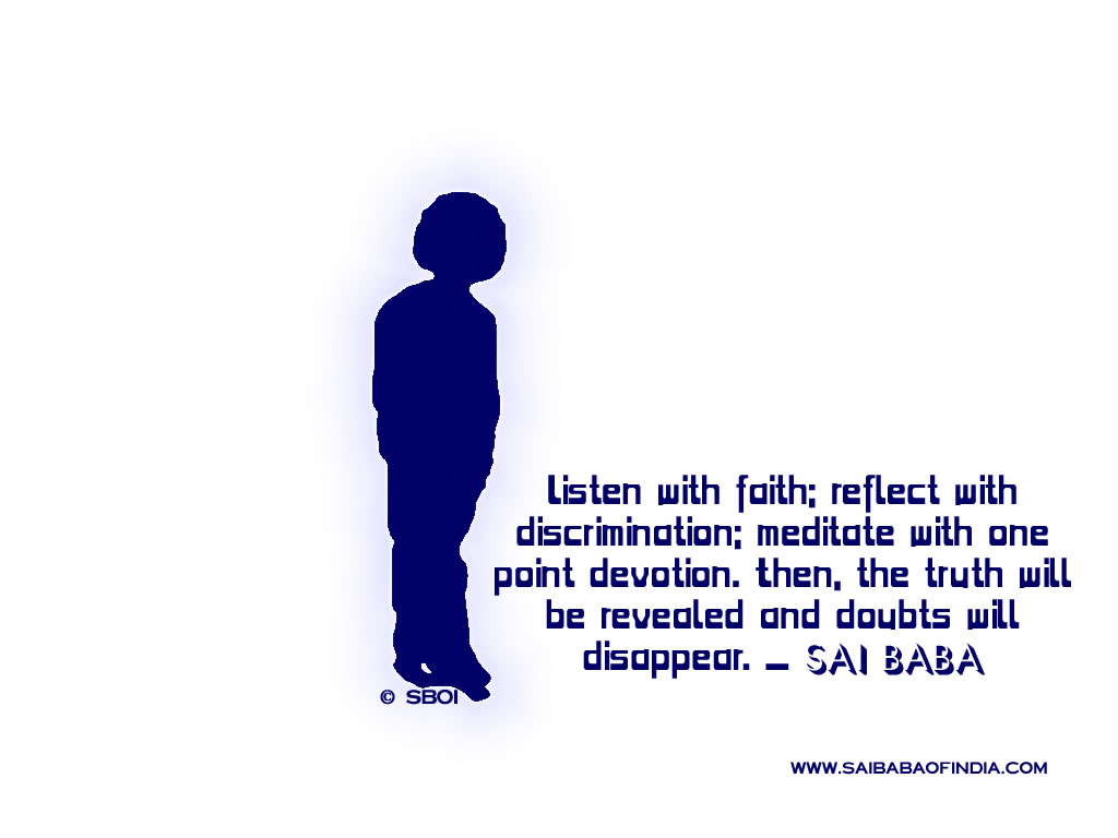 Discrimination Quotes Sai Baba Of India Wallpapers 100's Of Sai Baba Wallpapers To