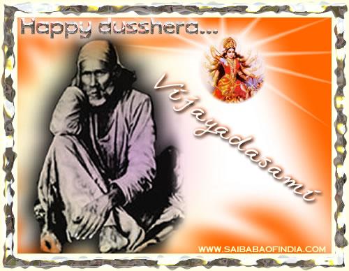 Animated Shirdi Sai Baba Dusshera Vijayadashmi Wallpaper