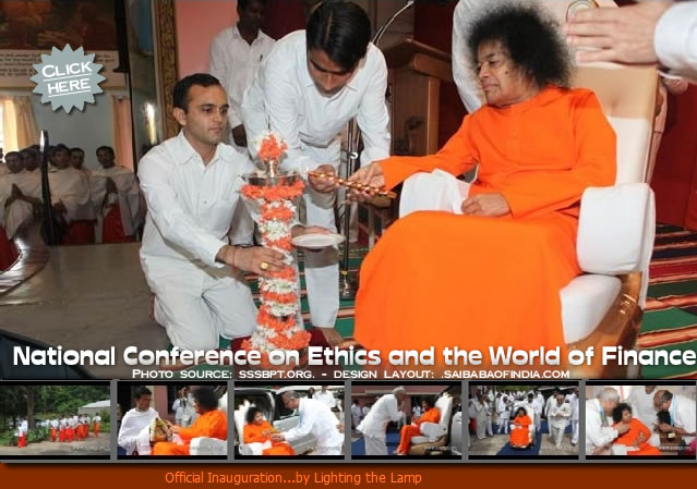 Swami started the conference by lighting the lamp