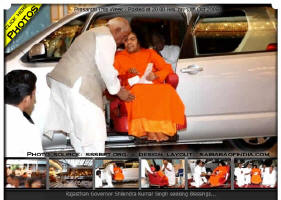 prasanthi-this-week-11oct-sai-baba - Dignitary visit during the week included the Governor of Rajasthan, Sri Shilendra Kumar Singh, former Election Commissioner Sri T.N.Seshan and former Chief Justice of Jharkhand, M. Karpaga Vinayagam, currently Chairman, Appellate Tribunal for Electricity, New Delhi.
