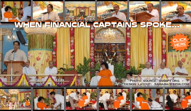 WHEN FINANCIAL CAPTAINS SPOKE... - Report on the Evening Function - 28th Aug 2009