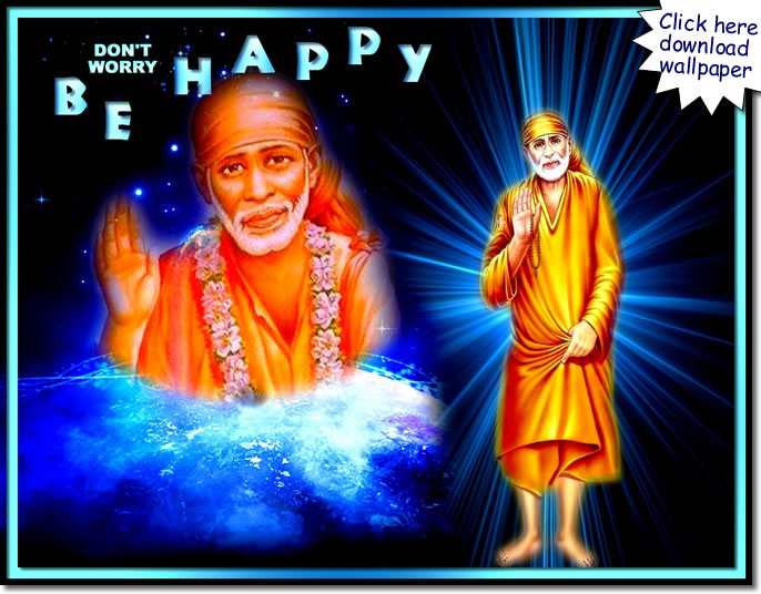 -shirdi-sai-baba-dont-worry-be-happy - wallpaper