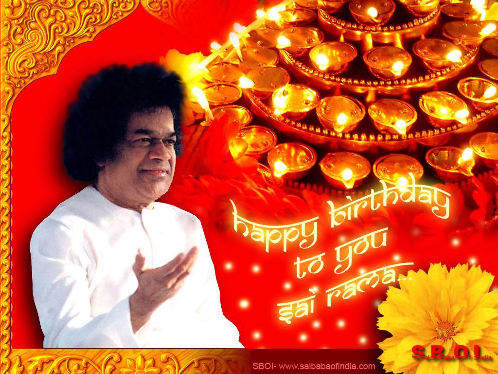 Phenomenal Sri Sathya Sai Baba Happy Birthday Greeting Cards Funny Birthday Cards Online Aboleapandamsfinfo