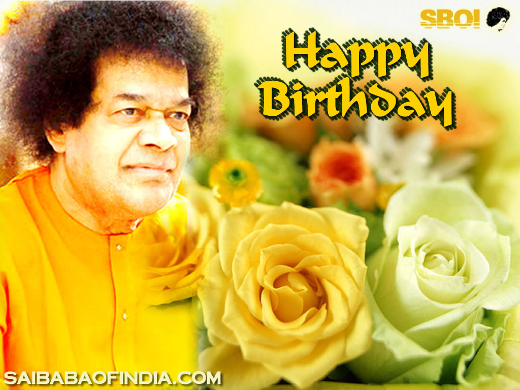 SRI SATHYA SAI BABA HAPPY BIRTHDAY Greeting Cards-