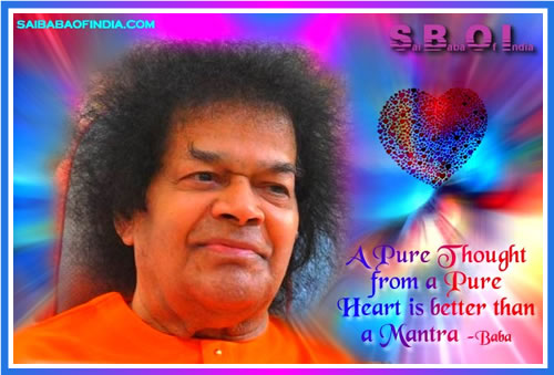 SATHYA-SAI-BABA-pure-heart-thought-mantra quote
