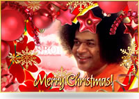 Sai Baba & Jesus Christmas Greeting cards