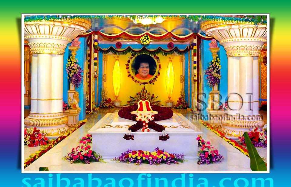 BHAGAWAN SRI SATHYA SAI BABA MAHA SAMADHI DARSHAN IN