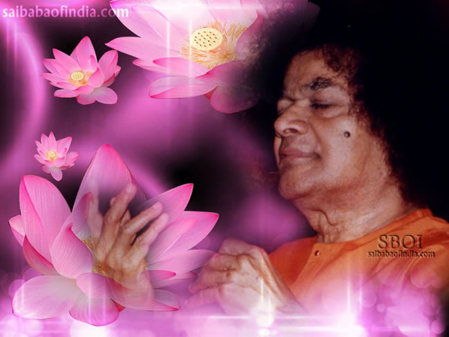 sri-sathya-sai-baba-wallpaper-lotus-flowers