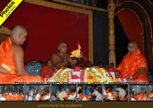 The seven day Veda Purusha Saptaha Jnana Yagna commenced this morning
