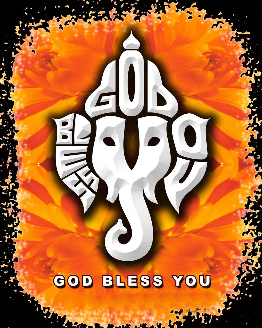 Ganeshachathurthigreetingcards saibaba ganesha themed cards ganesha god bless you ganesha art m4hsunfo