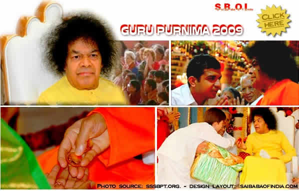gurupoornima photos 2009 -  Sri Sathya Baba