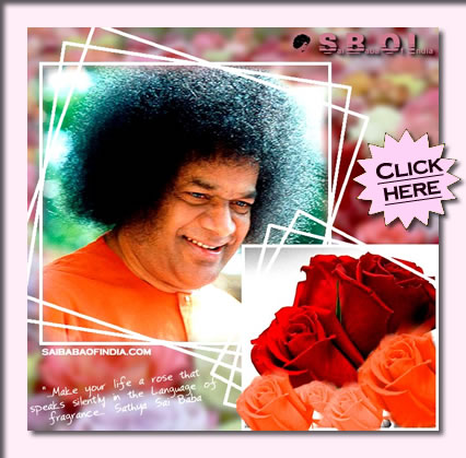 "Wallpaper - ""Make your life a rose..."" - OM SAI RAM"