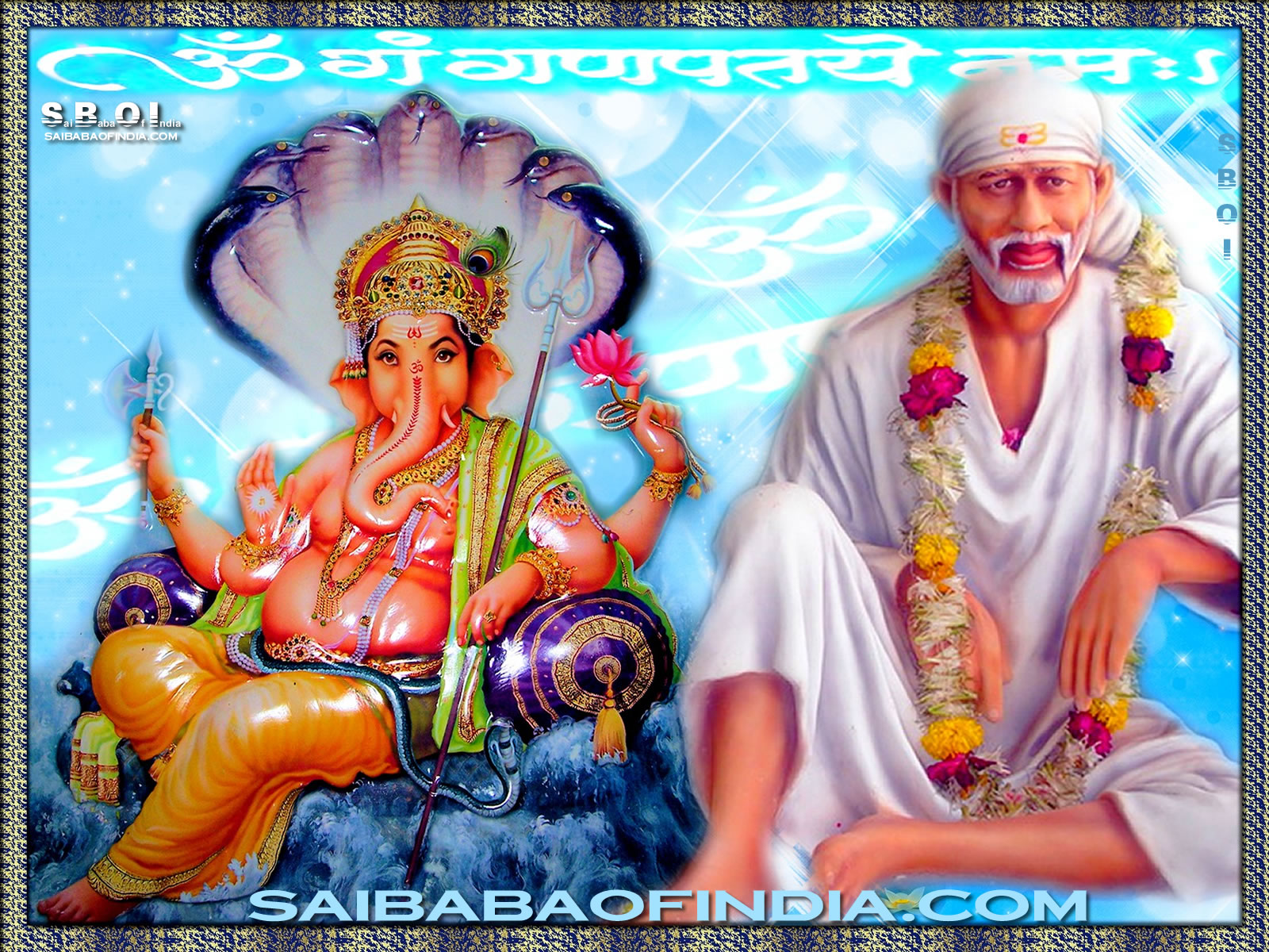 Photos Of Ganesh Ji Appearing On The Shirdi Sai Pictures In Udi