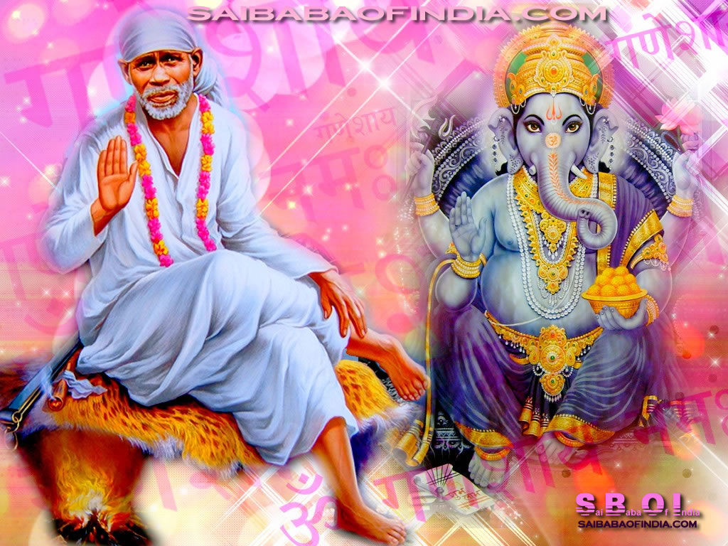 Wonderful Wallpaper Lord Sai Baba - ganesha-shirdi-sai-baba-wallpaper-3  Photograph_511434.jpg