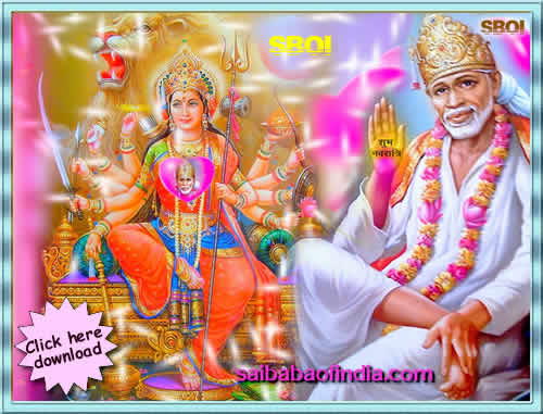 Happy Navaratri - Shirdi Sai Baba