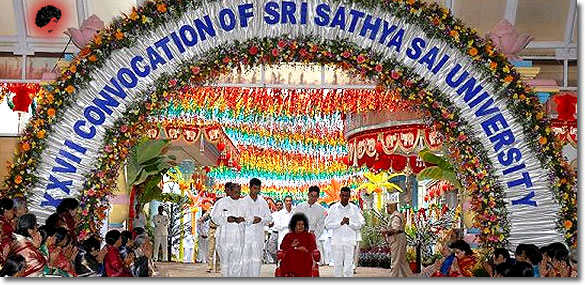 Photos updates convocation 2008 sri sathya sai university for Annual function decoration