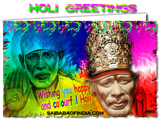 wallpaper of holi. SHIRDI SAI BABA HOLI GREETING