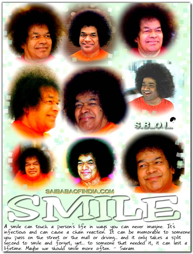 Smile more often- Sairam