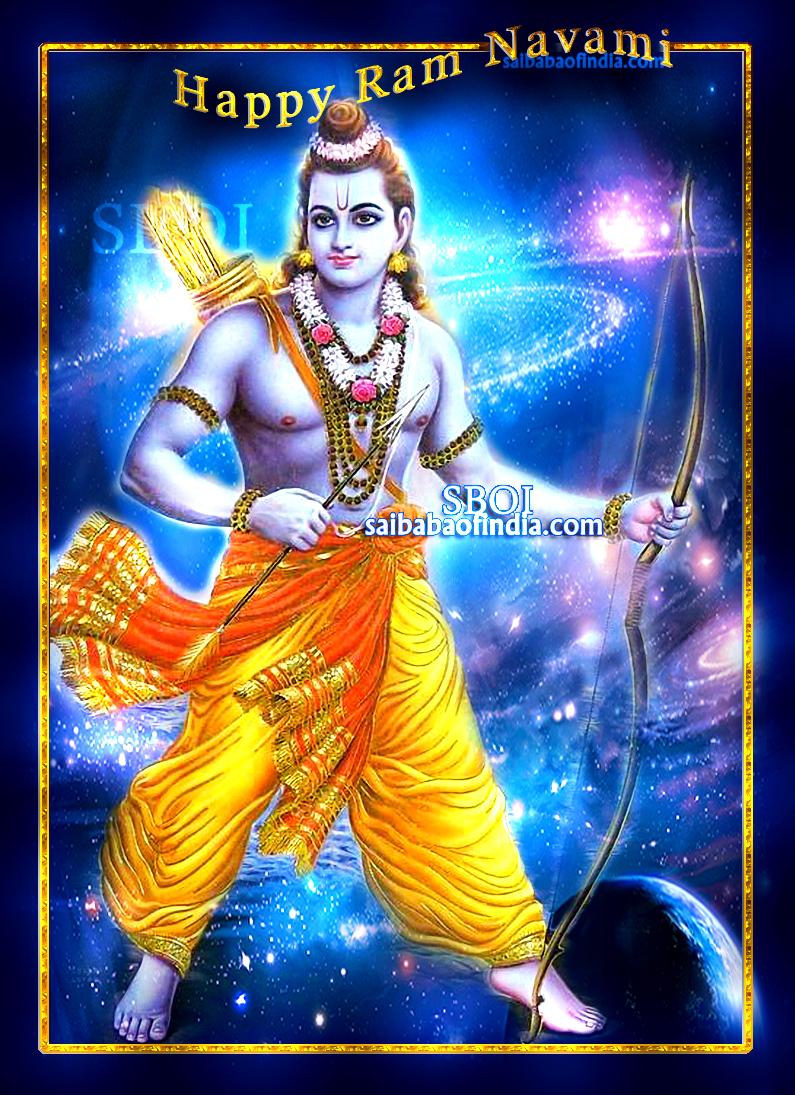 ramanavami greeting cards with sai baba theme