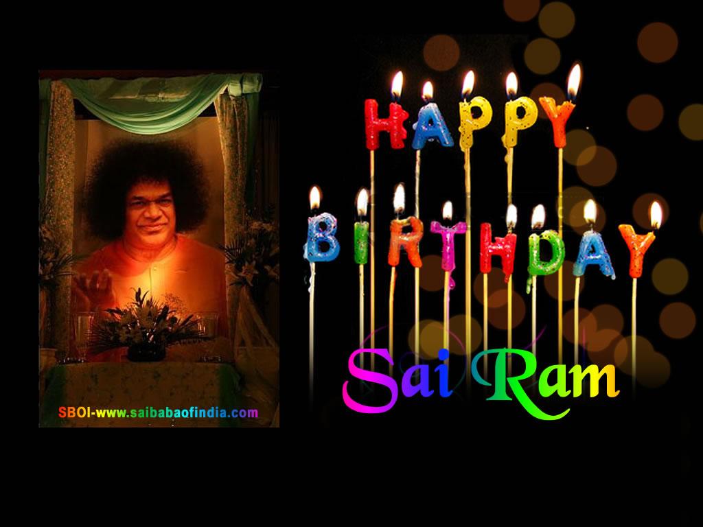 Magnificent Sri Sathya Sai Baba Happy Birthday Greeting Cards Funny Birthday Cards Online Aboleapandamsfinfo